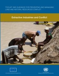 Extractive Industries and Conflict - UNEP
