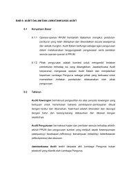 AUDIT DALAM DAN JAWATANKUASA AUDIT 6.1 Kenyataan Dasar ...