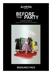 before party the - Almeida Theatre