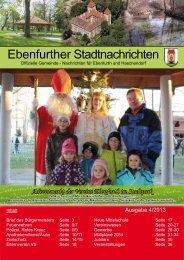 Ebenfurther Stadtnachrichten vom Dezember 2013 - Stadtgemeinde ...