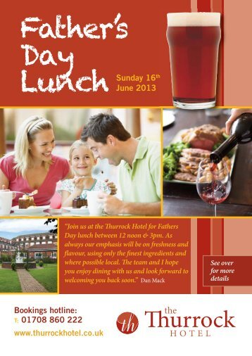 Father's Day Lunch - Thurrock Hotel