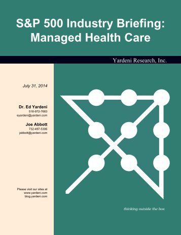 S&P 500 Industry Briefing: Managed Health Care - Dr. Ed Yardeni's ...