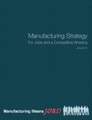 Manufacturing Strategy - Greater Binghamton Chamber of Commerce