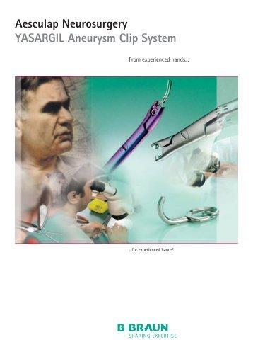 Aesculap Neurosurgery YASARGIL Aneurysm Clip System