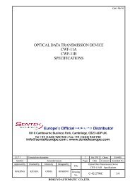CWF RS422 Tech Manual