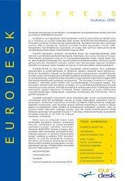 EURODESK - CIMO Kansainvälisen liikkuvuuden ja yhteistyön keskus