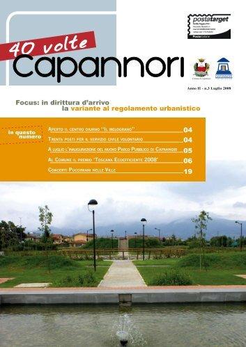 Luglio 2008 - Comune di Capannori