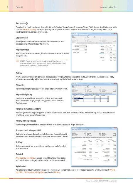 Nastavení modulu Mzdy - Cígler software, a.s.