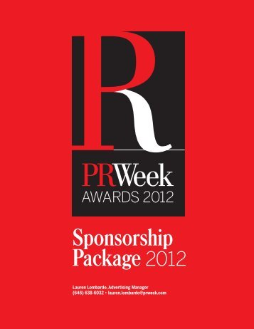 PRWeek Awards Sponsor Kit - PRWeek US