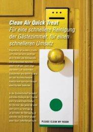 Clean Air Quick Treat Für eine schnellere Reinigung der ...