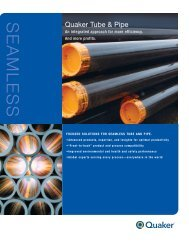 Seamless Tube and Pipe - Brochure - Quaker Chemical Corporation