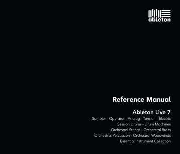 Reference Manual - Ableton