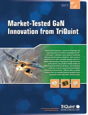Market-Tested GaN Innovation from TriQuint - RfMW