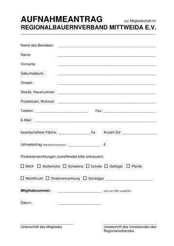 Aufnahmeantrag als PDF - Bauernverband-mittweida.de