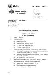 Provisional agenda and annotations, Executive ... - PreventionWeb