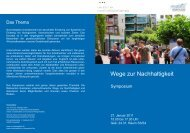 1. Symposium - Deutscher Nachhaltigkeitspreis