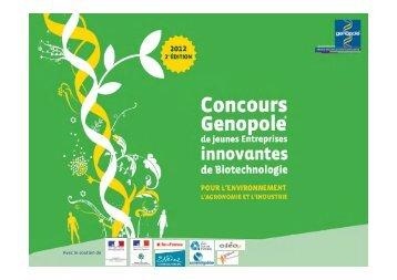 Devenir sponsor du concours 2012 - Genopole