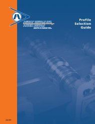 Profile Selection Guide - Agway Metals Inc