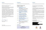 Vorwort Programm Vorwort - Netzwerk Neuroendokrine Tumoren ...