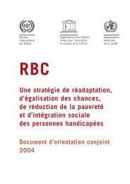 RBC Une stratégie de réadaptation, d'égalisation des chances, de ...