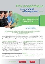 Plaquette Prix acadé.. - Consulting News Line