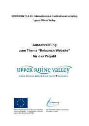 Relaunch Website - Upper Rhine Valley