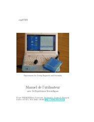Manuel de l'utilisateur - Programme