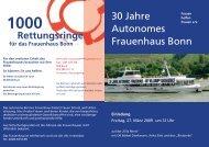 Rettungsringe 30 Jahre Autonomes Frauenhaus Bonn