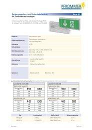 Rettungszeichen- und Sicherheitsleuchte für ... - Pfrommer GmbH