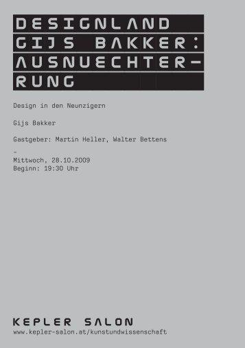 Heft_Bakker_20091028.pdf - Kepler Salon
