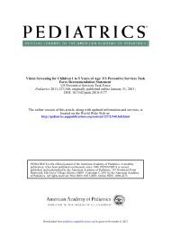 Vision Screening for Children 1 to 5 Years of Age: US ... - Pediatrics
