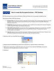 How to create Zip Encrypted Archives – PGP Desktop