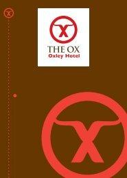 The Ox – Beverage List - ourHotels.com.au