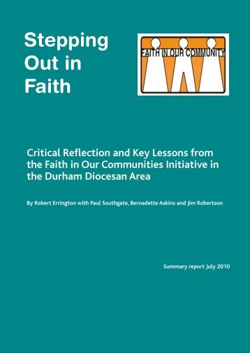 Stepping Out in Faith - Critical Reflections and K - Diocese of Durham