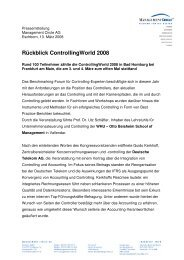 Rückblick Controllingworld 2008