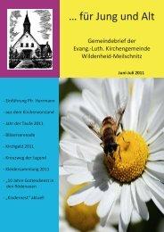 Juni-Juli 2011 internet.pub - Kirchengemeinde Wildenheid-Meilschnitz