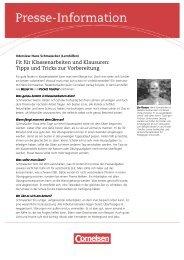 Interview Schmalacker Vorbereitung Klassenarbeiten