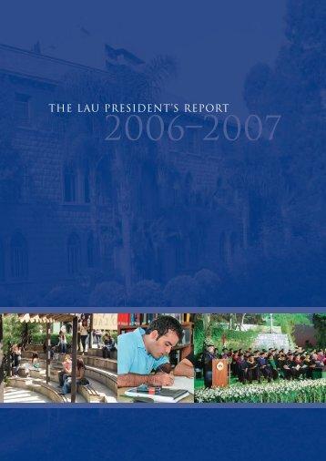 presidents-report200.. - LAU Publications - Lebanese American ...
