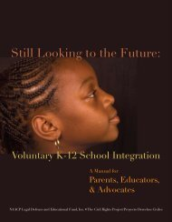 Still Looking to the Future, Voluntary K-12 ... - Education Justice