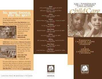 Child Care Brochure - Nebraska Children's Home Society