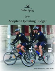 2007 Adopted Operating Budget - City of Winnipeg