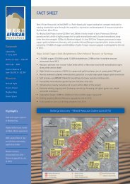 FACT SHEET - West African Resources