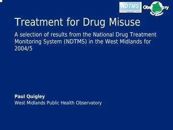 Treatment of Drug Misuse