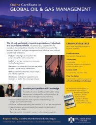 Online Certificate in Global Oil & Gas Management - TAGIUNI