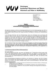 Reaktion der UV zur Ordination - Jan 07 - VUV