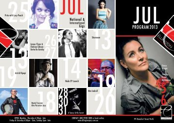 July Program - The Ellington Jazz Club