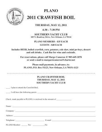 2011 CRAWFISH BOIL - PLANO