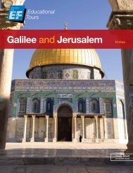 Galilee and Jerusalem 10 days - EF Educational Tours