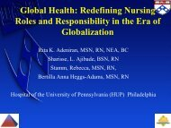 Global Health: Redefining Nursing Roles And Responsibility In - IUPUI