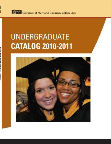 undergraduate catalog 2010-2011 - UMUC Asia - University of ...